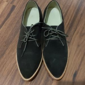 Nisolo James Loafer Olive Green Suede Size 8